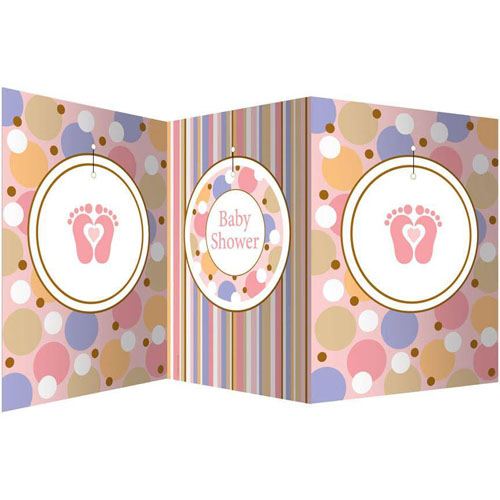 Baby Shower 'Tiny Toes Pink' Stand-Up Centerpiece (1ct)