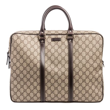 Gucci Flight bag Supreme GG Canvas Beige Ebony Brown Messenger Bag (Gucci Original Gg Canvas)