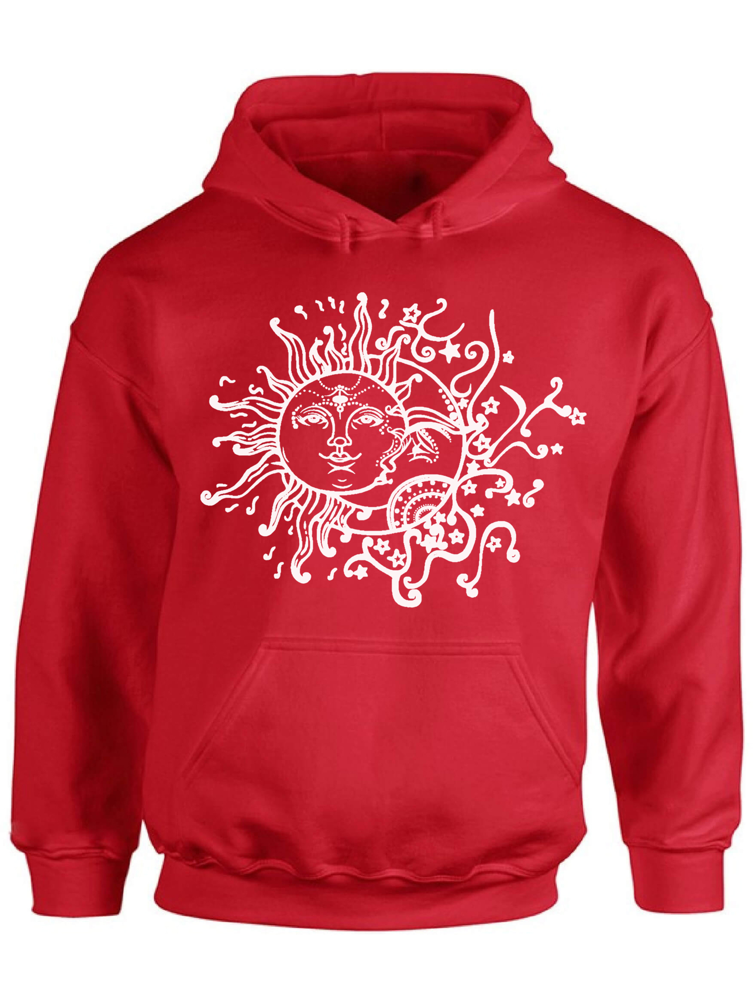 Sun and MoonUnisex 3D Printed Sweatshirt Casual Pullover Hoodie With Big Pockets
