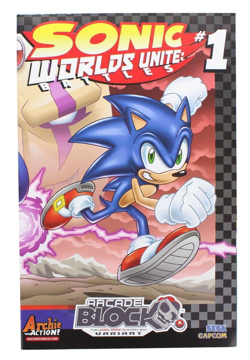 Sonic The Hedgehog Worlds Unite Battles 1 Arcade Block Exclusive Cover Walmart Com Walmart Com