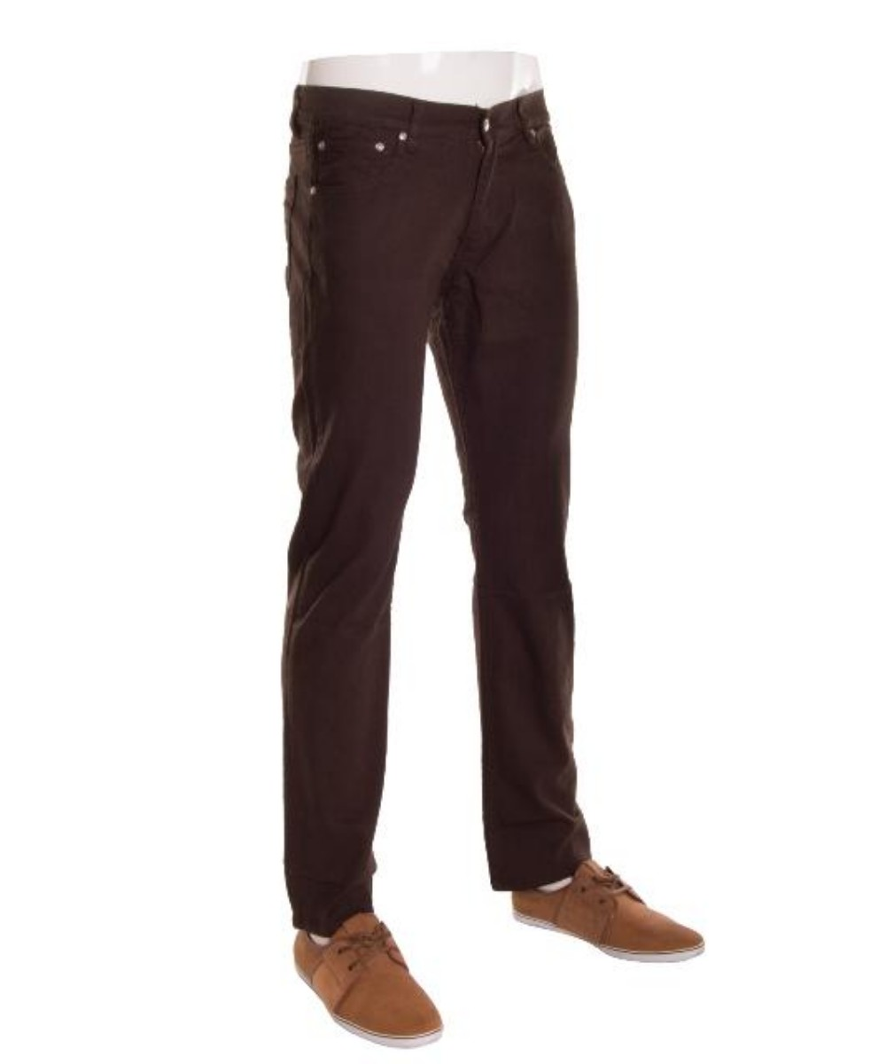 Hawks Bay Men's Premium Skinny Fit Jeans Colored Luxe Trousers Black 28/30