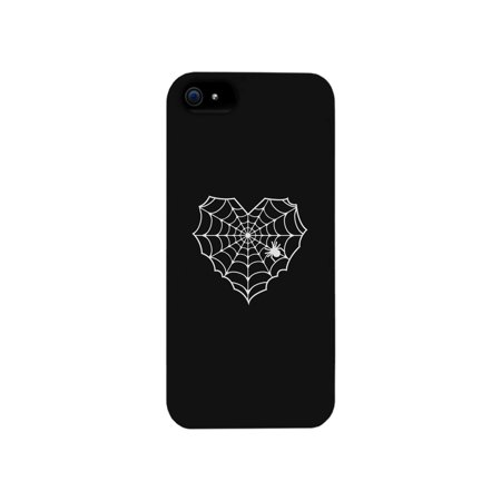Heart Spider Web Black Phone Case](Halloween Phone)