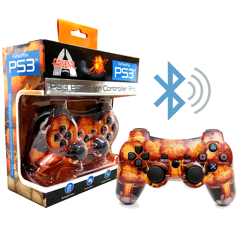 Playstation PS3 Wireless Bluetooth Controller by Arsenal Gaming - Explosion
