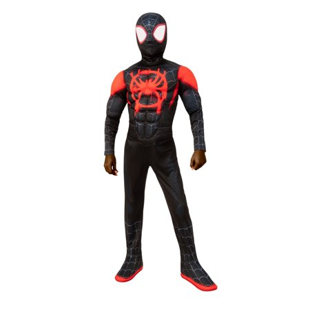 Black Pug Spider Costume (Halloween Spider-Man: Into the Spider-Verse Miles Morales Child)