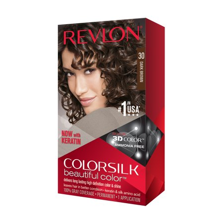 Revlon colorsilk beautiful color permanent hair color, dark brown (Wash Out Black Hair Dye For Halloween)