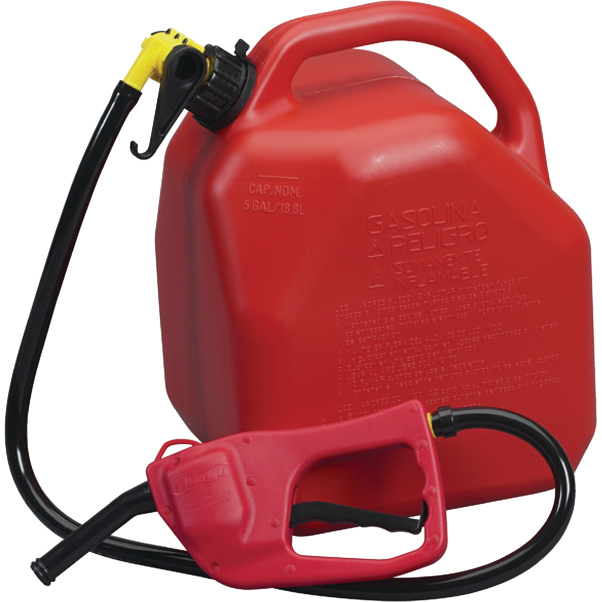 Moeller EPA Compliant MaxFlo Flo n' Go Combo Kit Includes Siphon Pump and 5 Gallon AB Series Jerry Can
