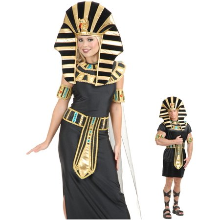 Gold And Black King Tut Pharaoh Egyptian Costume Headpiece Set 40 w - Pharaoh Headpiece