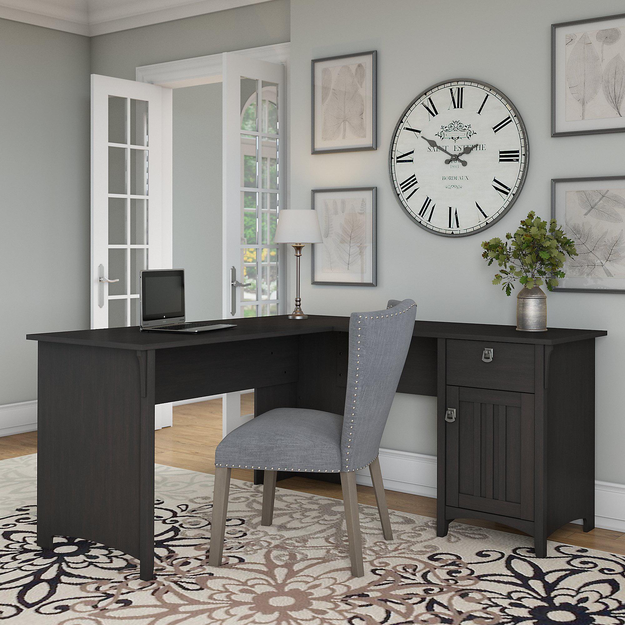 Merveilleux Bush Furniture Salinas L Shaped Desk With Storage In Vintage Black