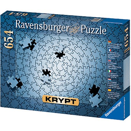 Ravensburger Krypt Blank Puzzle Challenge, Silver, 654 - Blank Puzzles