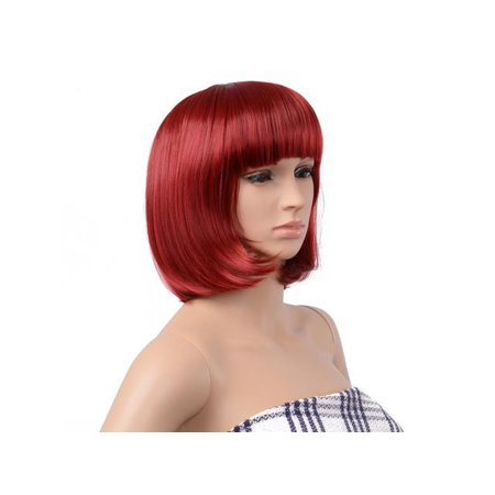 BOB Style Wig Short Straight Bang Hair Full Wigs Hair for Cosplay Disco - 1920s Style Wigs