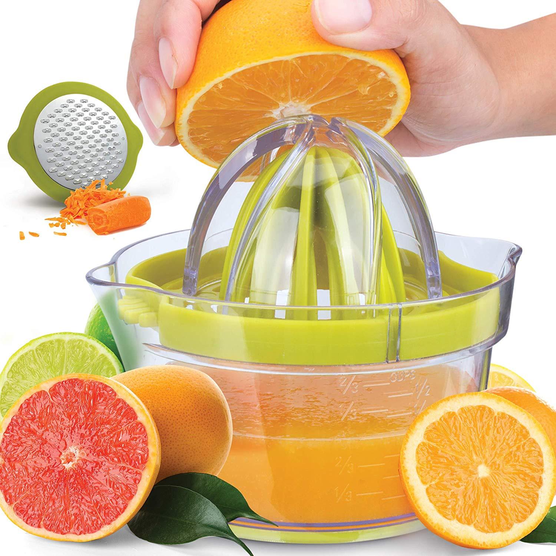Home YARDWE Glass Fruit Juicer Crystal Hand Pressure Orange Reamer ...