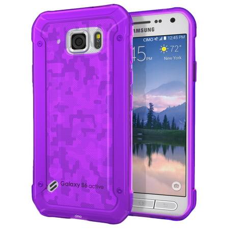 hot sale online 617d3 ea0ff Galaxy S6 Active Case, Cimo [Grip] Premium Slim TPU Flexible Soft Case for  Samsung Galaxy S6 Active (2015) - Purple