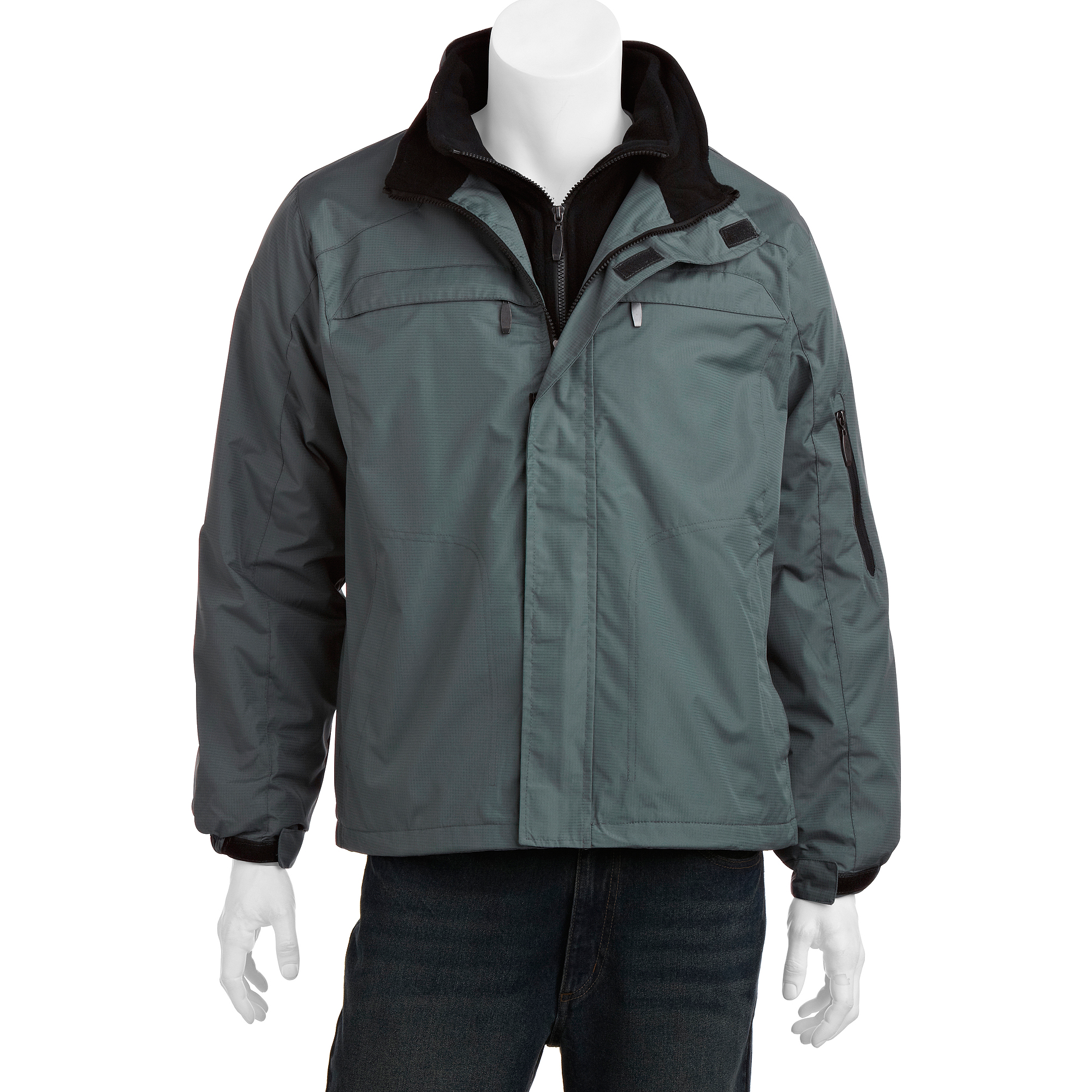 Big Men's Ripstop jacket with Polar Fleece Lining