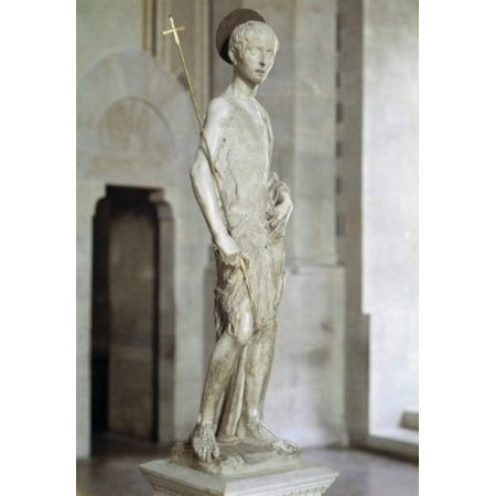 St John the Baptist Donatello (ca1386-1466 Italian) Bargello National Museum Florence Italy...