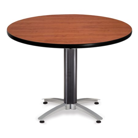 KMT42RD-CHY restaurant Furniture 42 Inch Multi-Purpose Mesh Base laminate top cafeteria Bar CHERRY ROUND Table ()