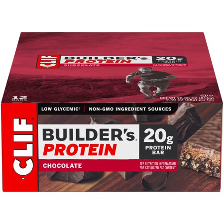 Clif Builders Bar Chocolate (Clif Builder's Protein Bar, Chocolate, 20g Protein, 12 Ct )