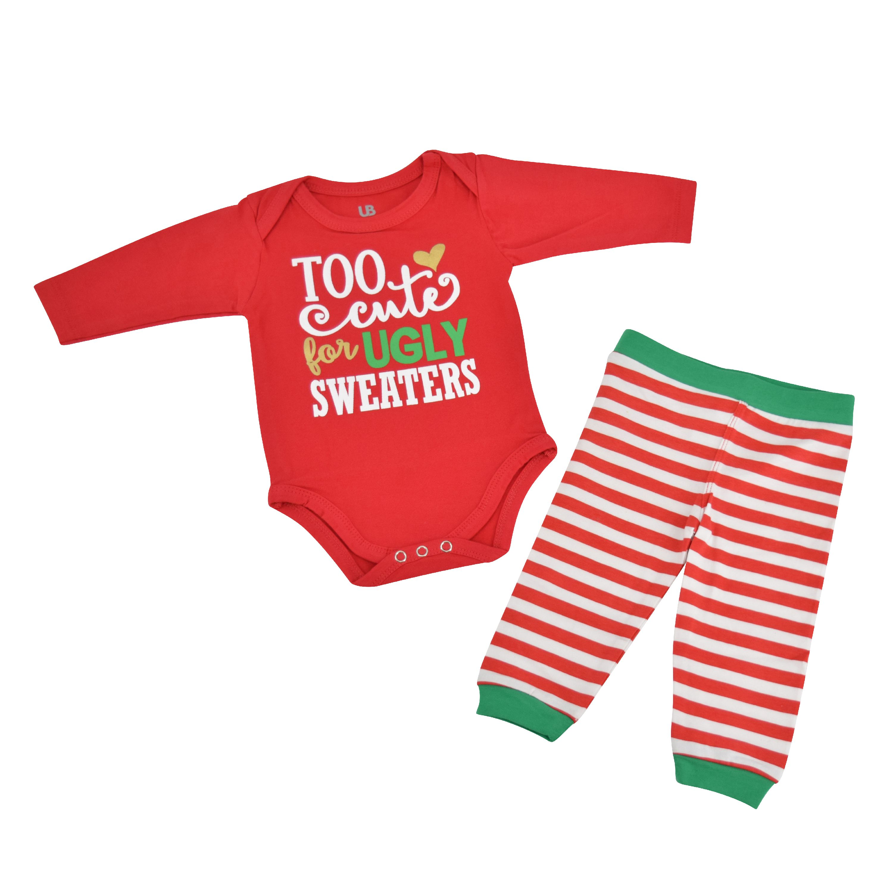 Unique Baby Boys Silent Night Christmas Layette Set with Cap