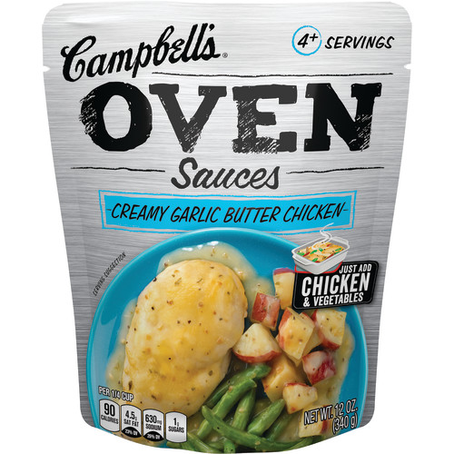 Campbell's Oven Sauces Creamy Garlic Butter Chicken, 12 oz.