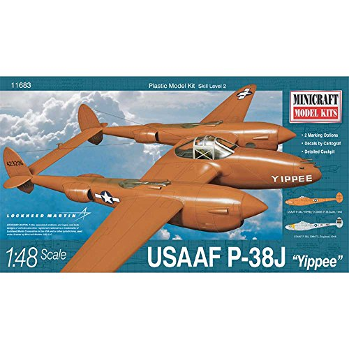 Minicraft MODELS 11683 1/48 P-38J USAAF w/2 Marking Options