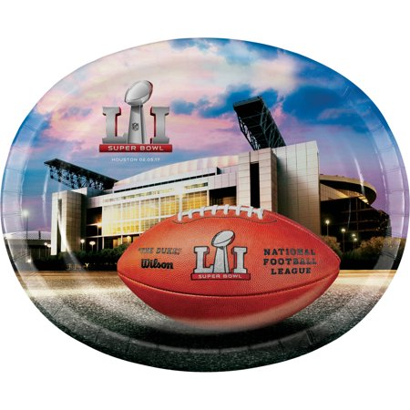 Oval Platter 8 Ct Superbowl Li 51 Nfl Football Tailgating Party Super Bowl