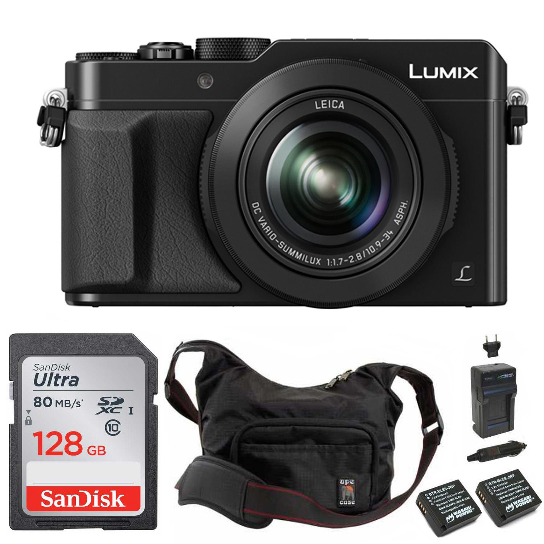 Panasonic Lumix LX100 (Black) 4K Point-and-Shoot Camera Professional Bundle