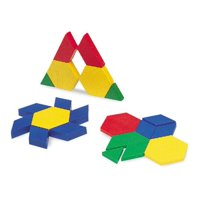Learning Resources Plastic Pattern Blocks, Set of 100