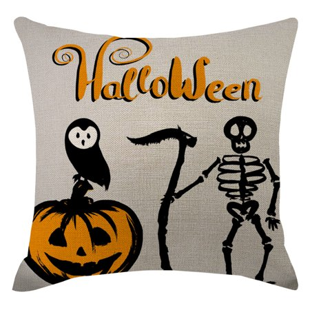 Decorate Cubicle For Halloween (Halloween Pumpkin Pillow Cover Pillow Cover Decorated Sofa Cushion)