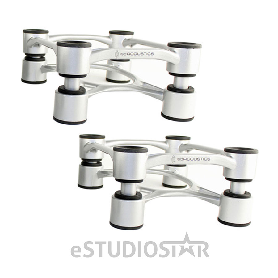 IsoAcoustics Aperta 200 Aluminum Acoustic Isolation Speaker Stand (Silver) by IsoAcoustics