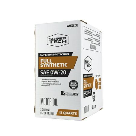 Super Tech Full Synthetic SAE 0W-20 Motor Oil, 12 Quarts