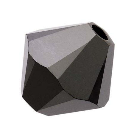 Swarovski Crystal, #5328 Bicone Beads 4mm, 24 Pieces, Jet Nut 2X ()