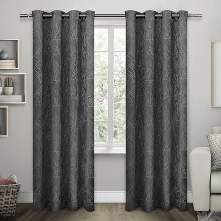 Curtains Ideas 54 curtain panels : Twig Insulated Woven Blackout Grommet Top Window Curtain Panels ...