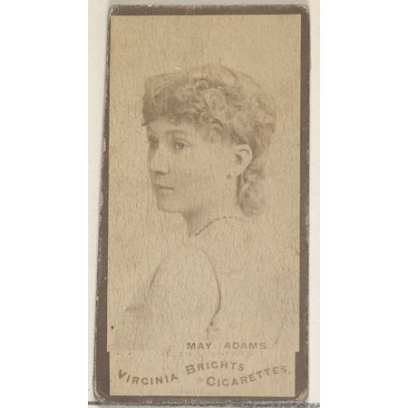 May Adams from the Actors and Actresses series (N45 Type 3) for Virginia Brights Cigarettes Poster Print (18 x 24)