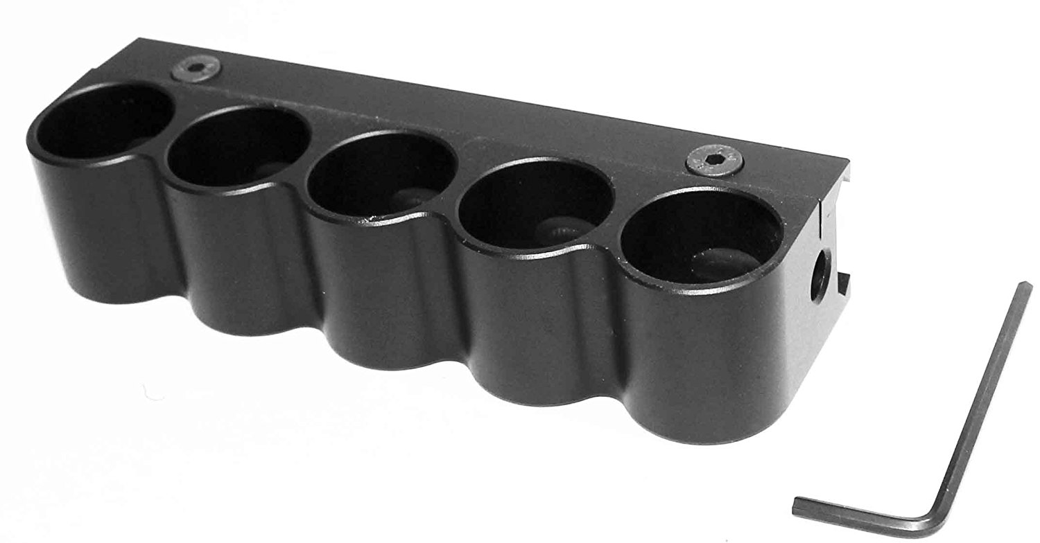 aluminum black 5 Round RD Shell Holder For 12 Gauge Weaver Mount For Rail by