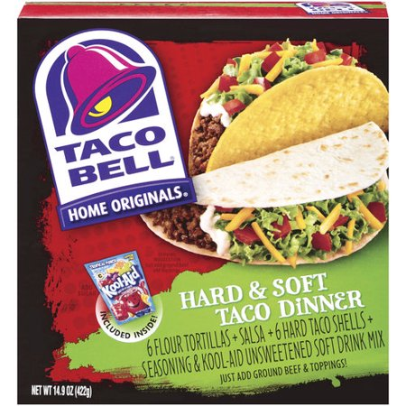 Taco Bell Home Originals Taco Dinner Kit 6 Ct Walmart Com
