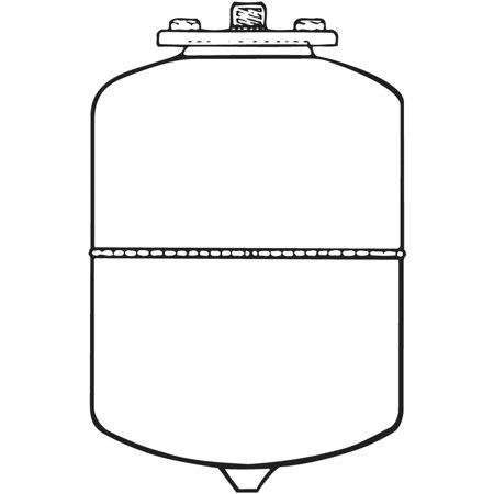FLEXCON PH 12 Expansion Tank, 4.8 Gal,14 1/2H x 11 Dia