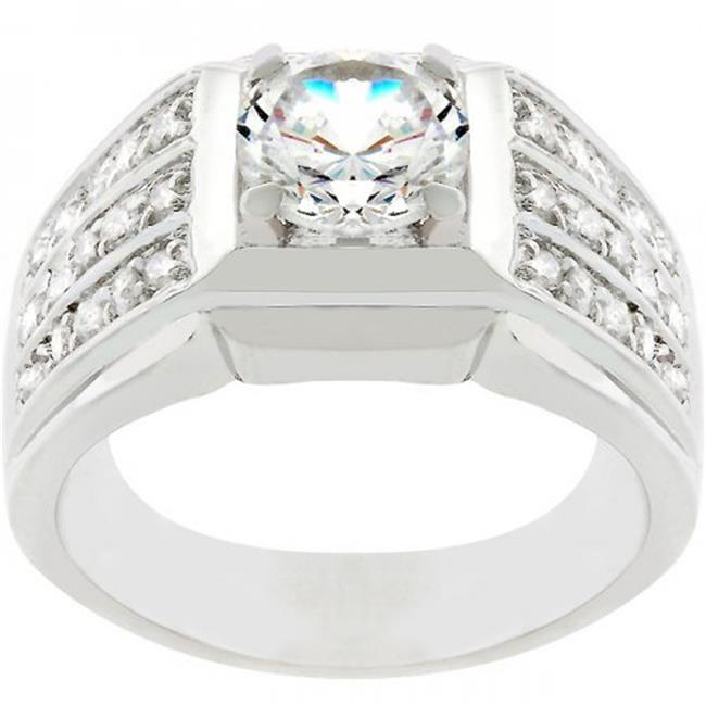 Icon Bijoux R07686R-C01-12 Rock Solid Cubic Zirconia Ring (Size: 12)