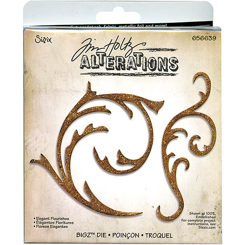 Sizzix Bigz BIGkick/Big Shot Die by Tim Holtz Alterations, Elegant Flourishes