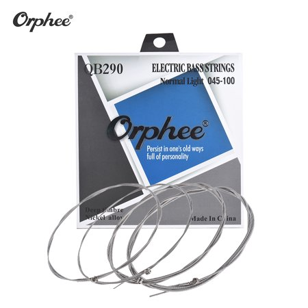 Orphee QB290 4-string Electric Bass Guitar String 4pcs/ Set(.045-.100) Nickel Wound Hexagonal Steel Core Normal Light Tension