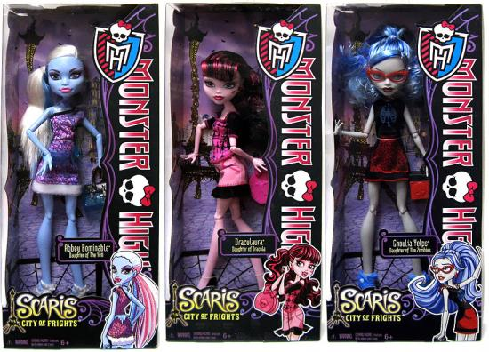 "Monster High Scaris City of Frights Set of 3 10.5"" Dolls by"
