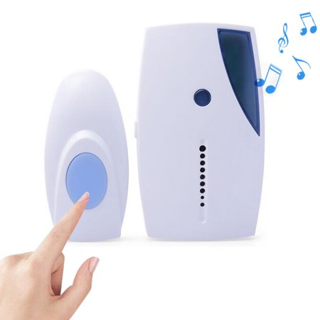 Uarter Plastic Wireless Doorbell Household Cordless Door Bell Electric Music Induction Doorbells with Wireless Doorbell Button, White