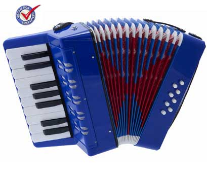 D'Luca Kids Piano Accordion 17 Keys 8 Bass Blue by D'Luca