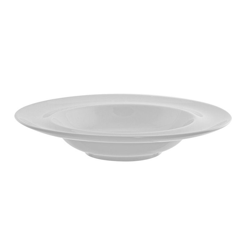 10 Strawberry Street Taverno Rim Soup Bowl in White (Set of 6) by 10 Strawberry Street