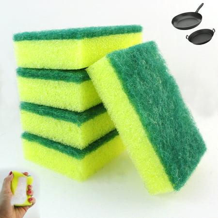 Dish Pan (30X Lot Sponges Scrubber Clean Kitchen Dishes Scourer Bathroom Shower Pans)
