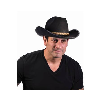 FELT COWBOY HAT BLACK