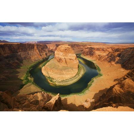 Usa Arizona Landscape Of Horseshoe Bend And Colorado River Near Page Canvas Art   Ron Dahlquist  Design Pics  17 X 11
