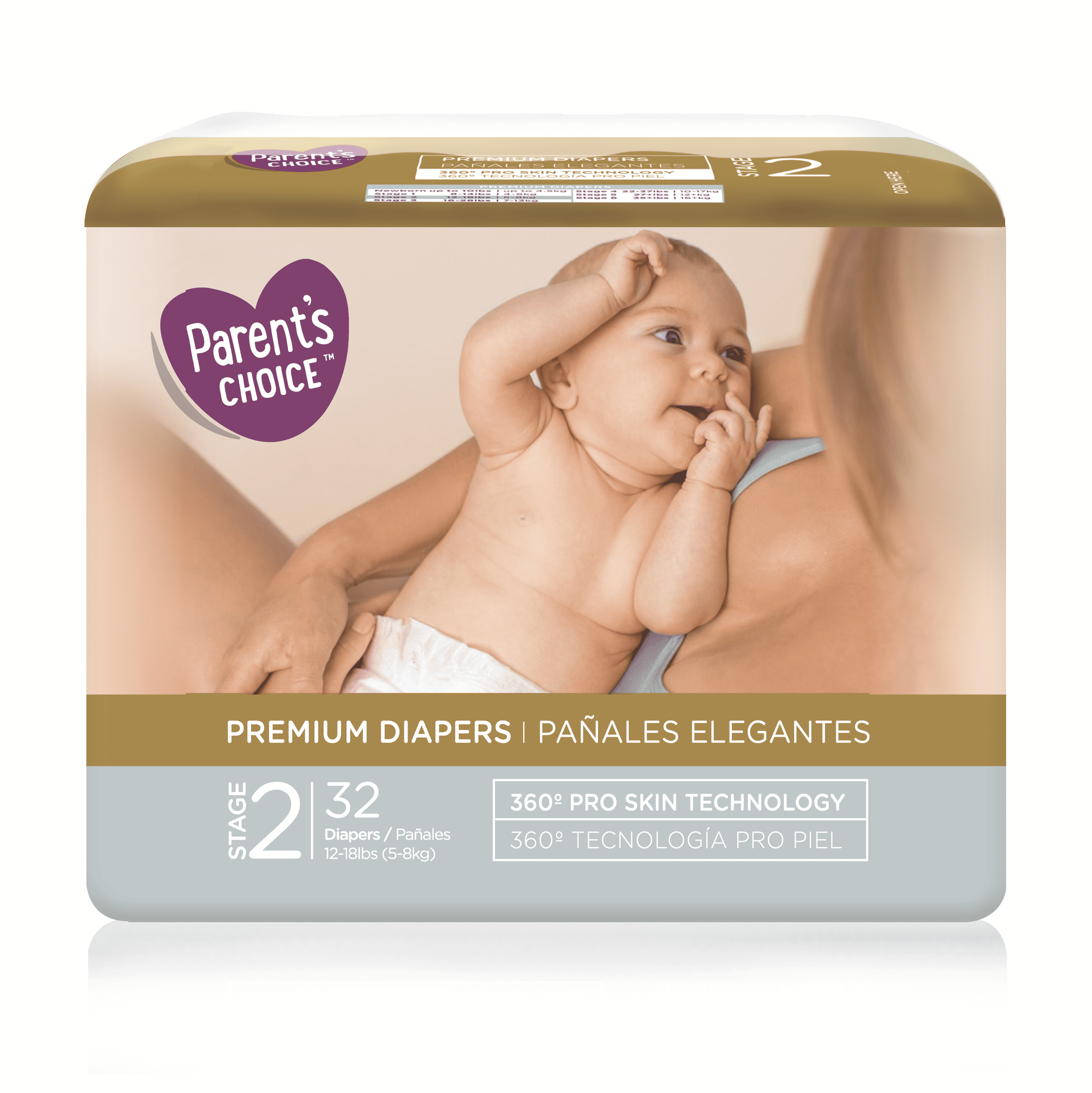 Parent's Choice Premium Diapers, Size 2, 32 Diapers