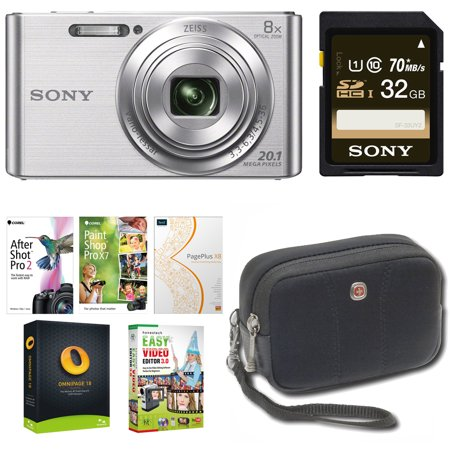 Sony Cyber-shot W830 Digital Camera Bundle with Corel Imaging Software