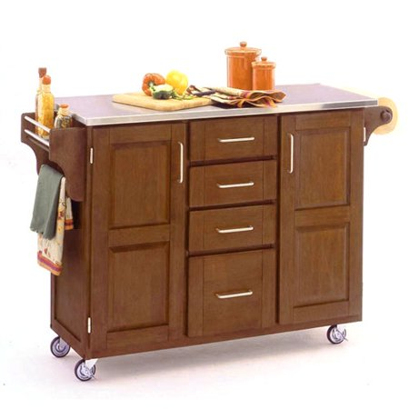 Home Styles Large Kitchen Cart Cottage Oak