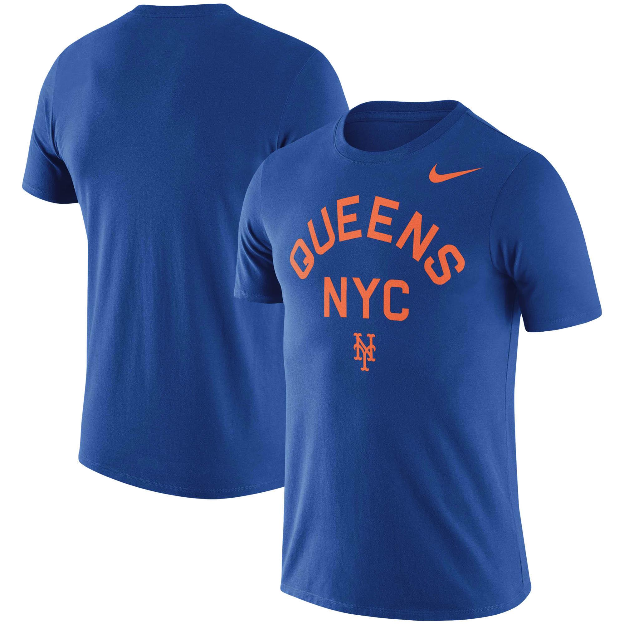 New York Mets Nike MLB Queens Local Phrase T-Shirt - Royal