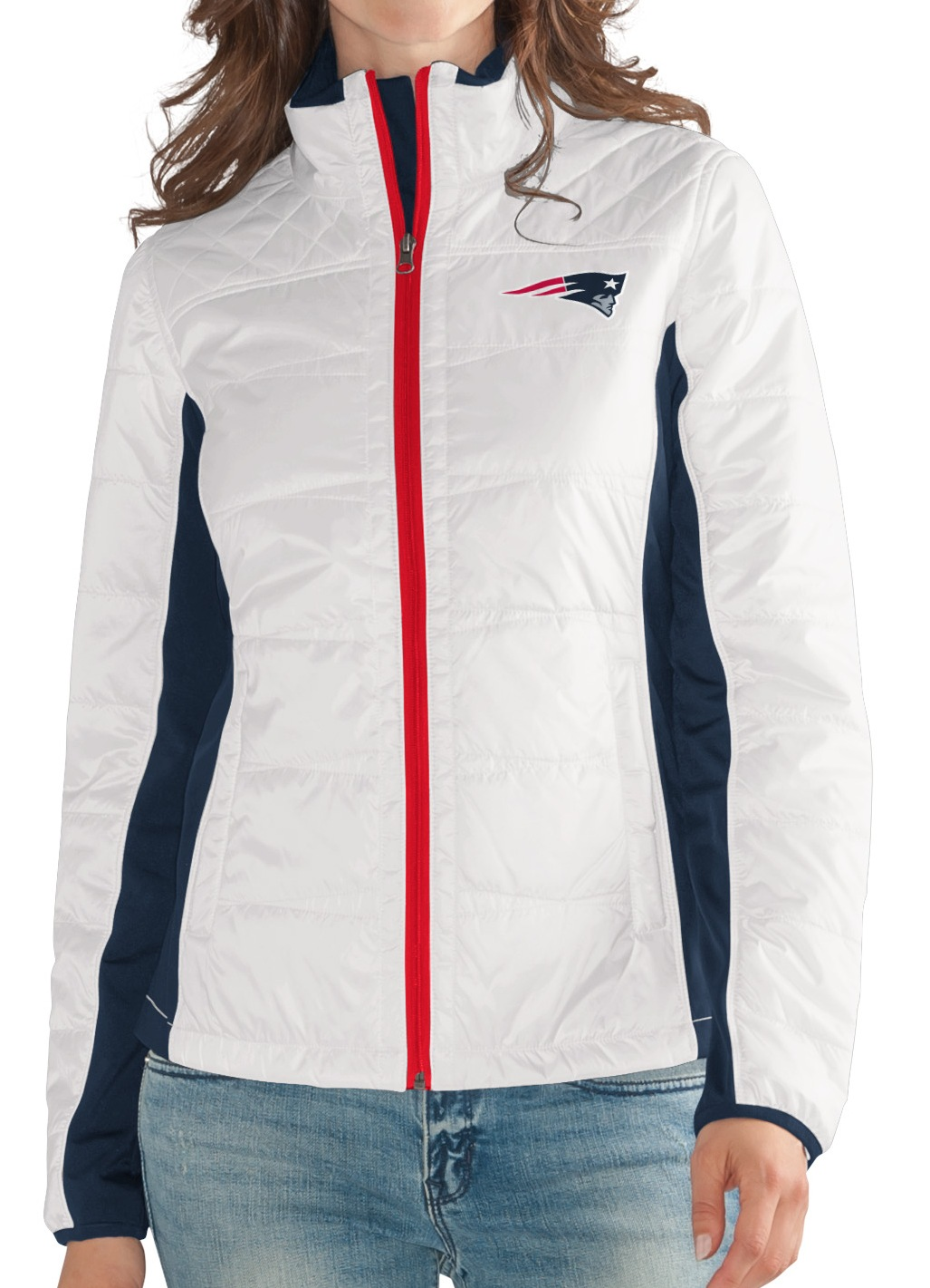 "New England Patriots Women's NFL G-III ""Fullback"" Full Zip Quilted Jacket by G-III Sports"